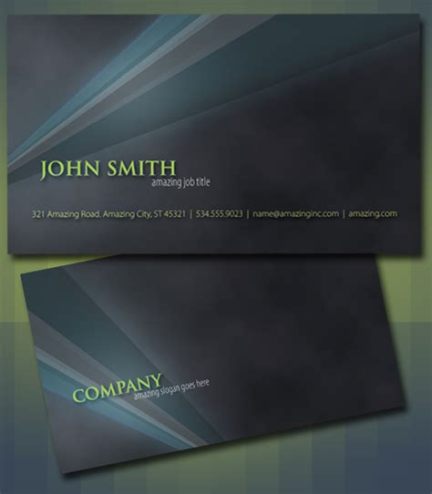 single business card template photoshop 45 free photoshop business card templates