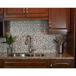 Kitchen Wall Backsplash Panels Smart Tiles Minimo Cantera 11 55 In W X 9 64 In H Peel And Stick Decorative Mosaic Wall Tile