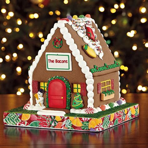pre made gingerbread houses to buy 36 best images about christmas at brookstone on pinterest ginger boy snowman