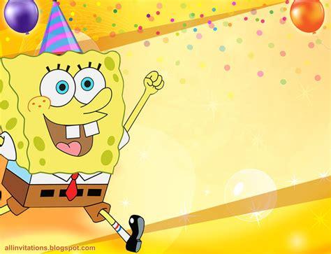 imagenes de feliz cumpleaños bob esponja invitaci 243 n bob esponja all invitations