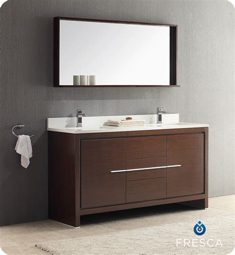 fresca allier 60 quot wenge brown modern single sink bathroom bathroom vanities buy bathroom vanity furniture