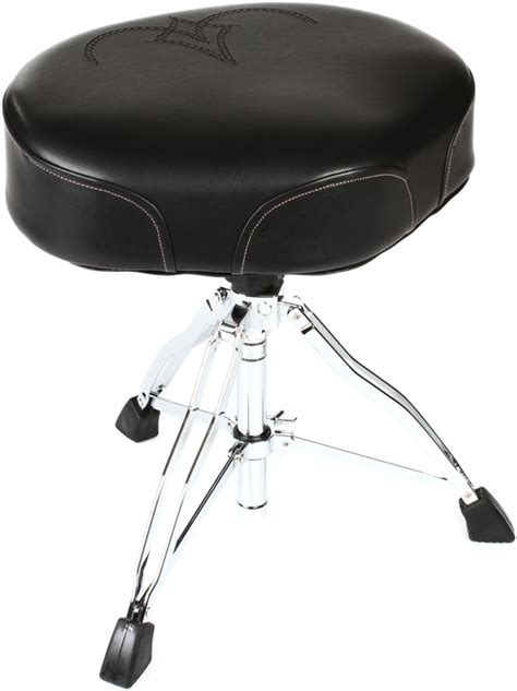 comfortable drum throne tama 1st chair ergo rider throne black white embroidered