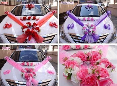 DIY Wedding Car Decorations Kit Bridal Car Supplies
