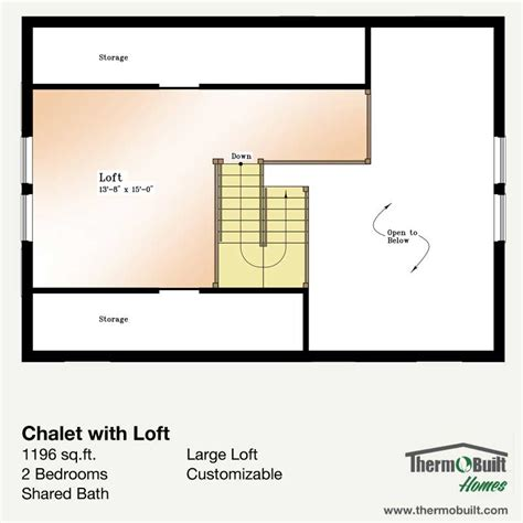 chalet house plans with loft plan chalet with loft thermobuilt systems inc