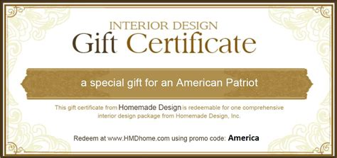 interior design gift certificate search results for random gift certificates blank
