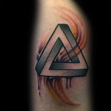 tattoo pen rose 60 penrose triangle tattoo designs for men impossible