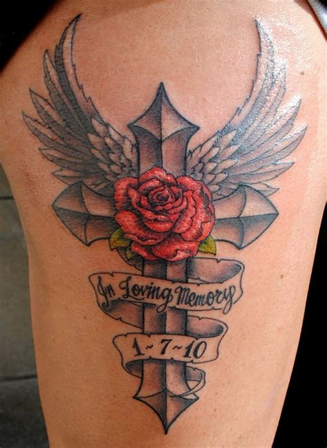 in loving memory cross tattoos quotes in memory of tattoos quotesgram