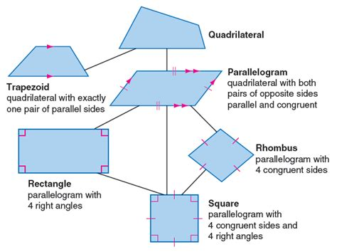diagram of quadrilaterals diagram quadrilaterals choice image how to guide and