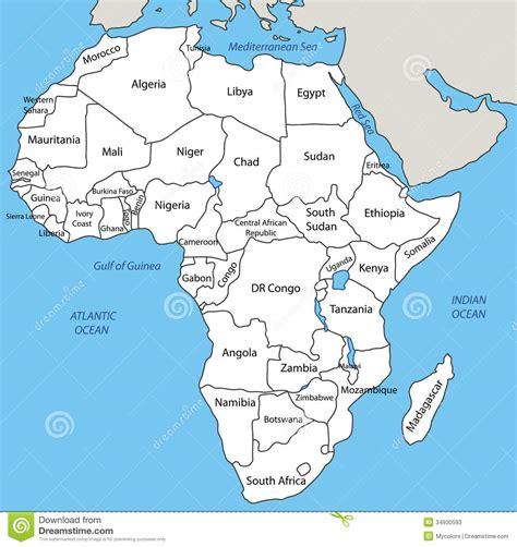 lafrica mappa l africa mappa illustrazione vettoriale immagine di