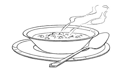 chicken supper coloring page miso soup clipart 43
