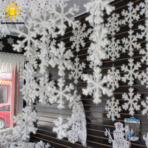 cheap snowflake lights decorations menards 30pcs white snowflake ornaments festival home decor decoracion navidad