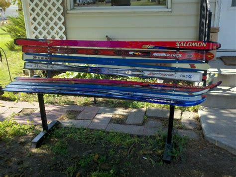 bench made of skis bench made from skis woodworking projects plans