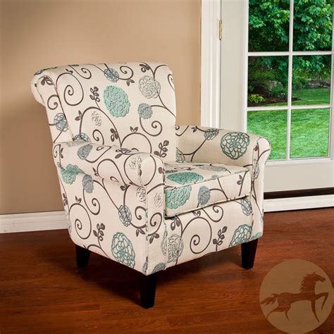 Floral Living Room Chairs Christopher Home Roseville Fabric Floral Club Chair