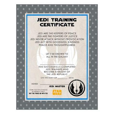free printable star wars jedi certificates best 25 training certificate ideas on pinterest jedi