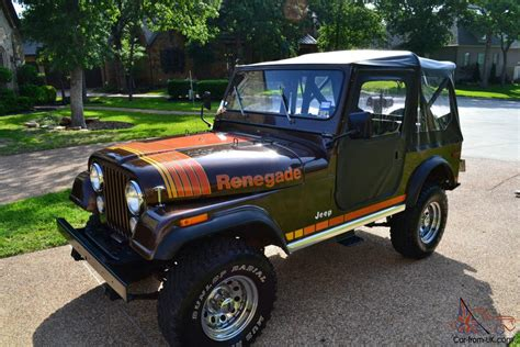 brown jeep cj7 renegade cj7 renegade brown excellent condition original paint