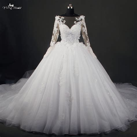 aliexpress wedding dress aliexpress com buy rsw786 cathedral train long sleeve