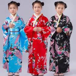 Enfants paon yukata v 234 tements japonais fille kimono robe enfants