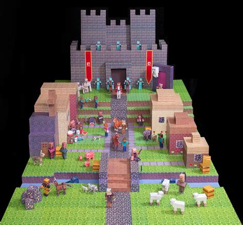 Minecraft Overworld Papercraft - save money on minecraft paper models fms