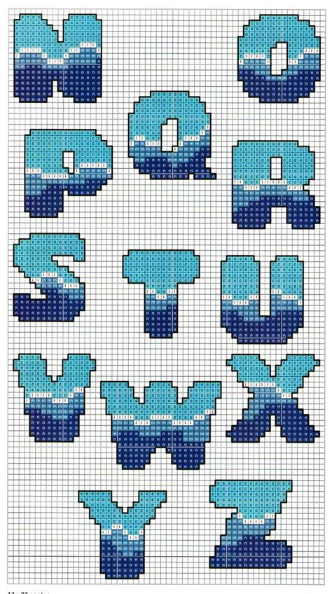 perler bead letters sea pattern alphabet perler perler