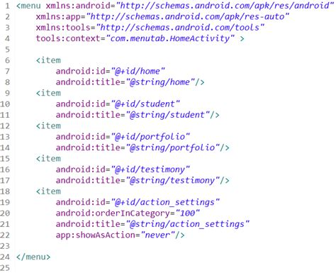 membuat file xml android membuat android menu fragment