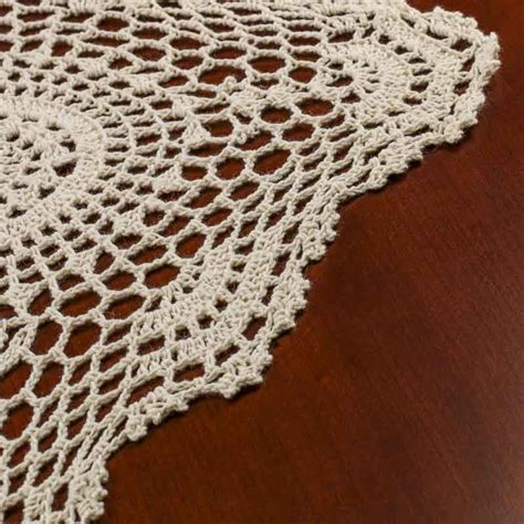 crochet doily ecru crocheted doily table runner crochet and lace