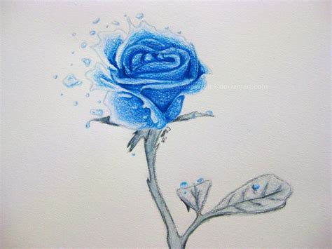 ocean blue rose by xrosesxrulex on deviantart