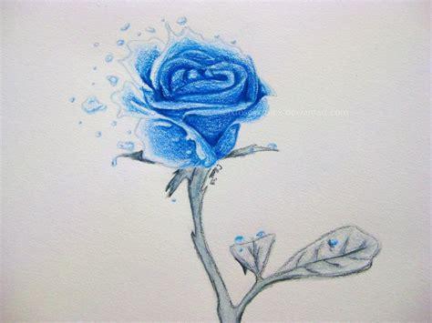 ocean blue rose by xrosesxrulex on deviantart