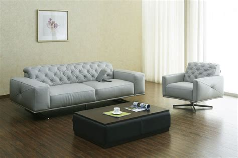 Top Grain Italian Leather Contemporary Sofa Set Phoenix Italian Leather Sofas Contemporary