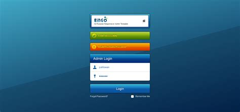 themeforest login page bingo all purpose responsive admin template by westilian