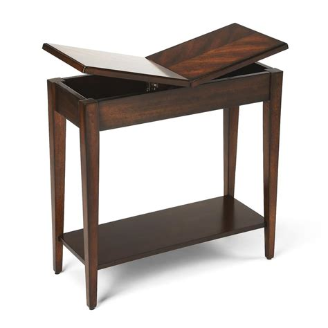 chairside tables with storage chairside storage table levenger