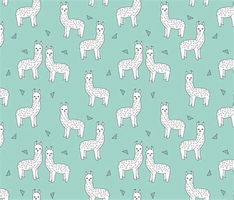 cute llama pattern alpaca mint alpaca fabric cute alpacas knit fabric