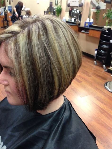 bob hair with high lights and lowlights bob haircut with low lights and highlights short