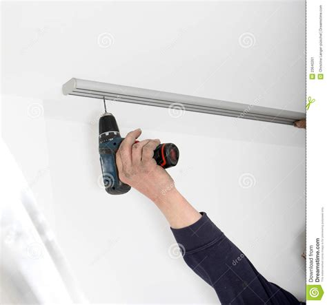 dual curtain track fitting double curtain track stock image image 23640261