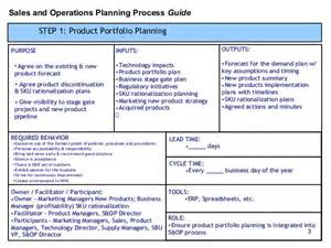 operations plan template s op process template