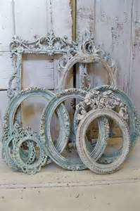 blue ornate large frame grouping shabby chic by