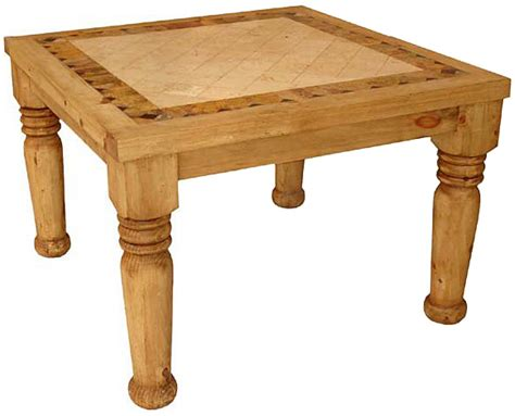 Mexican Rustic Dining Table Rustic Furniture Louisiana Mexican Rustic Pine Dining Table With Inlaid Marble