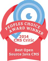 best cms open source the winner of the 2014 s choice cms award for best