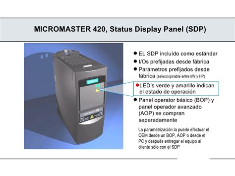 Panel Sdp mm420 overview 1