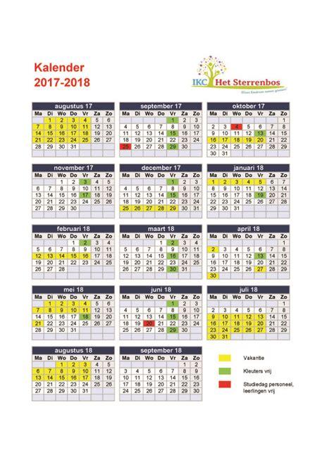 Kalender 2018 Feestdagen En Vakanties 2018 Schoolvakanties