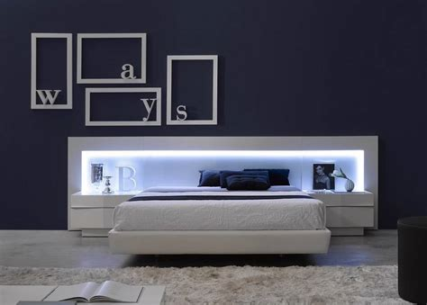 ultra modern bedroom furniture spain made ultra modern platform bed w led headboard