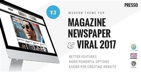 newspaper theme nulled download presso v3 0 2 modern magazine newspaper viral theme