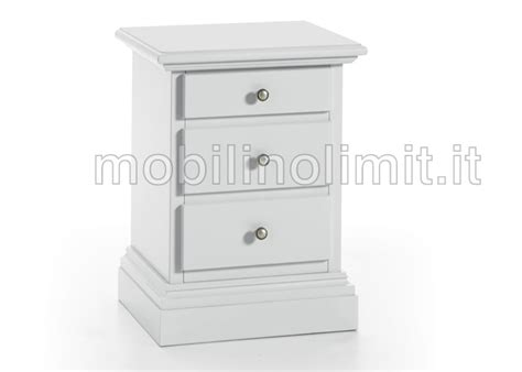 comodini con cassetti comodino con zoccolo 3 cassetti bianco opaco