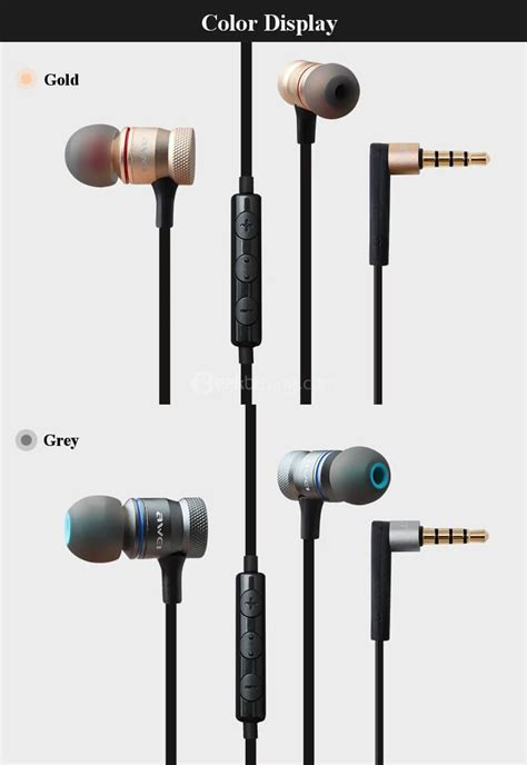 Resong Q12 Bass Wired Headset Grey awei es 70ty heavy bass wired metal earphone grey