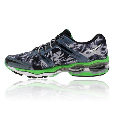 cushioned running shoes mizuno wave creation 15 mens grey green cushioned running