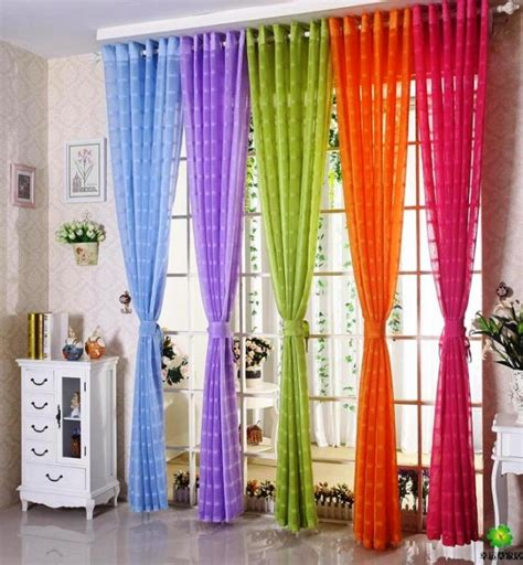 colorful curtains 15 delightful sheer curtain designs for the living room