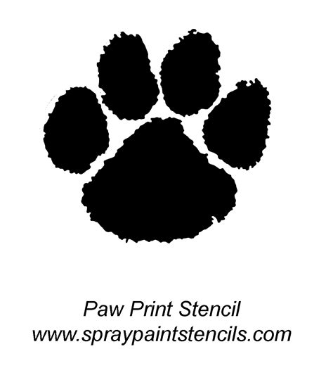 tiger paw template stencil requests for august 2007