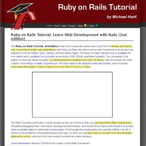 online tutorial ruby learn web development with the ruby on rails tutorial