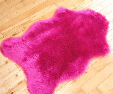 cheap fuzzy rugs cheap bright pink sheepskin fluffy plain rug soft faux fur mats washable