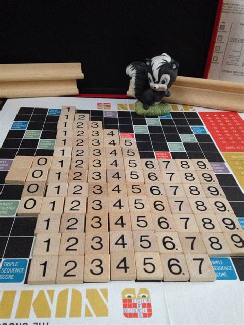 number of tiles in a scrabble numble scrabble number tiles by venturingvintage on etsy