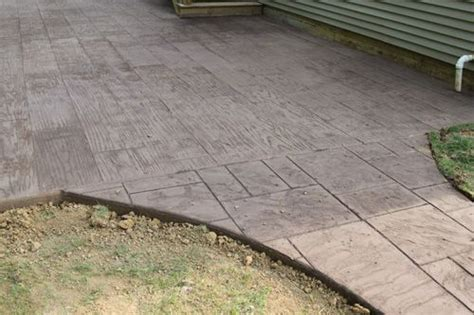 Patio Pavers That Look Like Wood Poured Concrete Walk Patio Sted As Hardwood Mixed